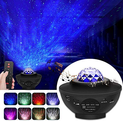 Night Light Star Projector, Sky Star Projector Remote Control Adjustable Starry Projector with Bluetooth Speaker Built-in Music Player Best Gift