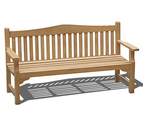 Jati Runnymede Teak 6ft FULLY ASSEMBLED Commemorative Memorial Bench – 1.8m