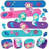 Baker Ross Kits de bracelets à claquer sirène (Paquet de 4) - Loisirs créatifs à thème pour enfants AT713