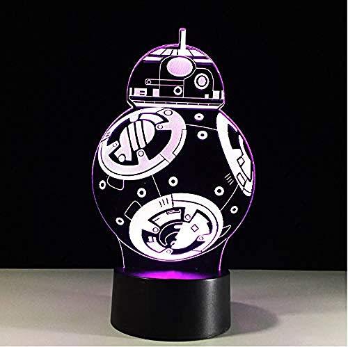 3D Led Bb8 Robot Luminaria Lamp Night Light Kid Gift Toys Bedroom Decor for Kids Baby Home Decor