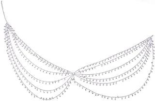 Decorative Belt Gold Silver Rhinestone Tassel Chain Skirt Women Sparkly A Line Sexy Shine Handmade Nightclub Beach Waist Chains