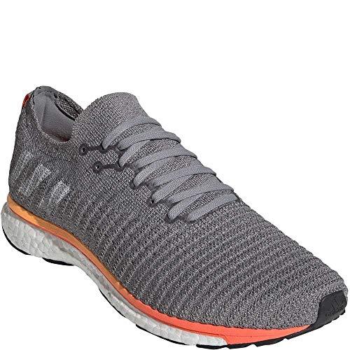 adidas Men's Adizero Prime LTD Running Shoes Grey Three/Cloud White/Solar Orange 8.5