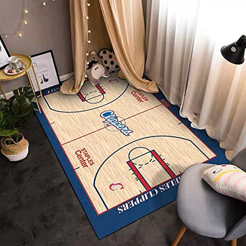 GPUI Alfombra para el suelo de la ventana de la bahía de los niños, suave y cómoda, para el hogar, baloncesto, 50 cm x 80 cm
