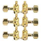 Clavijas de afinación Prácticas clavijas de guitarra acústica para entusiastas de la guitarra para guitarrista(Golden)