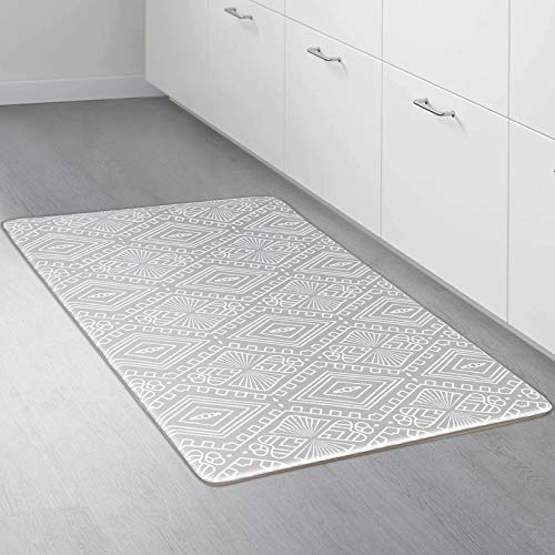 "CRZDEAL Kitchen Mat and Rugs (17.1""x 29.9"") Comfort Cushion Floor Mats Thick PVC Non-Slip Waterproof Fatigue Mat for Kitchen, Bathroom, Laundry, Sink or Office"