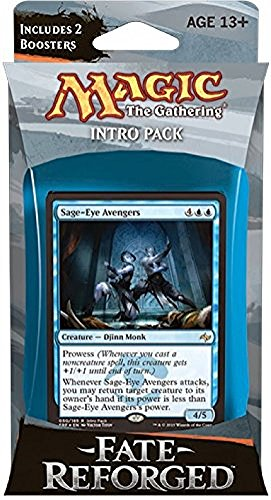 Magic The Gathering: Fate Reforged - Intro Pack / Theme Deck: Sage-Eye Avengers (Includes 2 Booster Packs & Alternate Art Premium Rare Promo) Blue