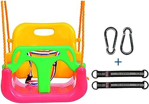 Kinderspielzeug Schaukel Drei-in-1-Kind verstellbarer Stuhl Hohe Rückenlehne Schaukel Kunststoff Sicher und langlebig Abnehmbarer Innen- und Au spielplatz (Farbe   Rosa-A)