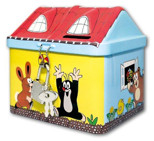 Spardose als Haus mit KRTEK - der kleine Maulwurf