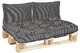 Beo Palettenkissen Sitzkissen 120x80 cm für Palettenmöbel   Made in EU Palettenkissen Outdoor UV-beständig Skandinavisch   Europaletten Polster 1x Paletten Sitzkissen 120x80
