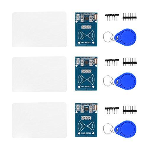 Sun3drucker 3stk RFID Kit RC522 Chip und Card,IC Karte Sensormodul SPI Schreiben für Arduino und Raspberry Pi
