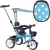 boppi Triciclo 4 en 1 para niños de 9 a 36 Meses - Azul