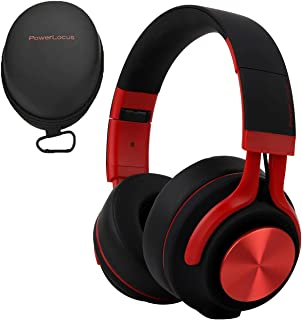 PowerLocus Cuffie Bluetooth Senza Fili Over-Ear, [Bluetooth 5.0,Autonomia 40 Ore] Cuffie Chiuse Wireless, Auriculari Bluetooth Pieghevole, Cuffie Stereo con Microfono per iPhone/Huawei/Samsung/TV/PC