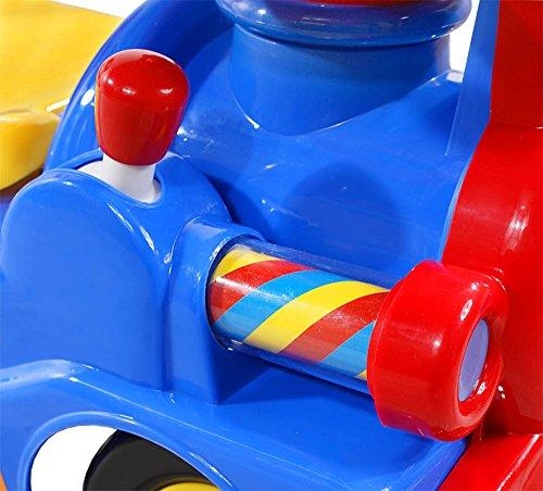 ARTI Correpasillos y andados para bebes - Portador con funcion empuja -Tire del juguete - Coche para bebe - Coches para ninos - Baby car 406 Train-new Red Ride-On