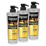 DIPLONA Champú para cabello más largo y puntas abiertas, tu champú profesional para mujeres, vegano, sin siliconas ni parabenos, cuidado del cabello para mujer, 3 unidades de 600 ml