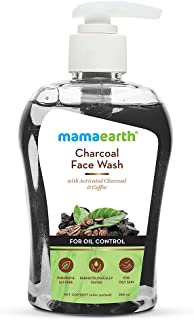Mamaearth Charcoal Face Wash with Activated Charcoal & Coffee for Oil Control (250)