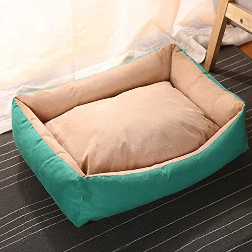 Hondenhok cathouse vierkant diep slaap hondenbed afneembaar en wasbaar vier seizoenen universele hondenbank huisdier bedbodem waterdicht antislip