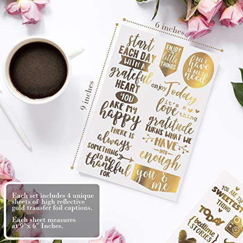 Limited Edition  Gold Scrapbook Stickers, Scrapbooking Supplies, Love Stickers  Amazon Exclusive!