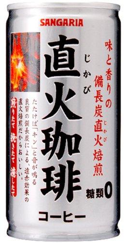サンガリア 直火珈琲糖類ゼロ 185g缶×30本