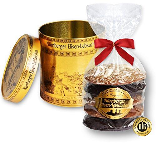 Schmuckdose mit 5 gemischten Lebkuchen, Motiv: Gold Nürnberg