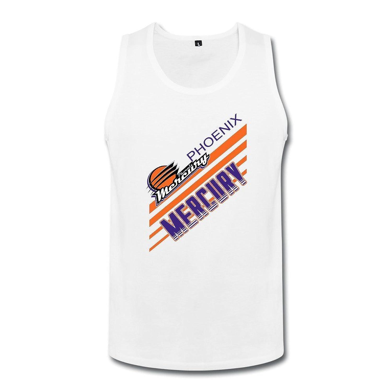 成人 ファッション 女子 バスケットボールチーム フェニックス マーキュリー タンクトップ 体に合う White
