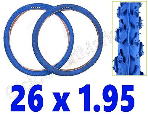 KENDA CICLOSPORTMARKET 2 x Copertone 26 X 1.95 Blu Bici Mountain Bike/MTB - Consegna 24 Ore