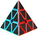 D-FantiX Pyramid Cube, Carbon Fiber Pyramid 3x3 Speed Cube Triangle Cube Puzzle