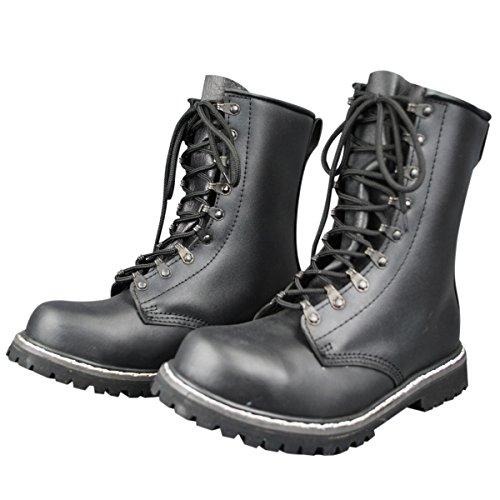Mil-tec - Botas de paracaidista (piel), color negro