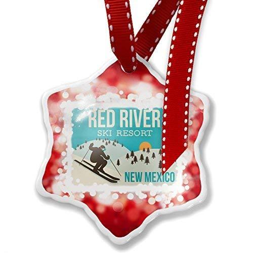 TIFA-LOVE Unique Designed Christmas Ornament Red River Ski Resort - New Mexico Ski Resort
