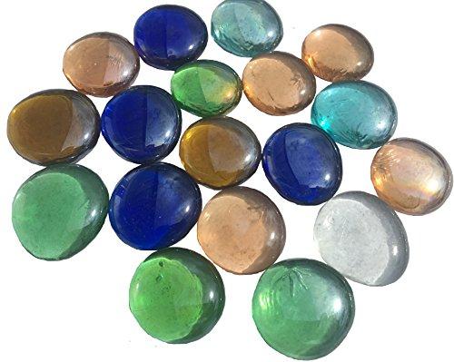Piedras de cristal Crystal King mezcladas, multicolor, 3,5cm, 300g,planas, decorativas, para mesa, jarrón, relleno