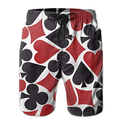 Funny Z Shorts de Tablero para Hombre Poker Heart Square Shorts de...