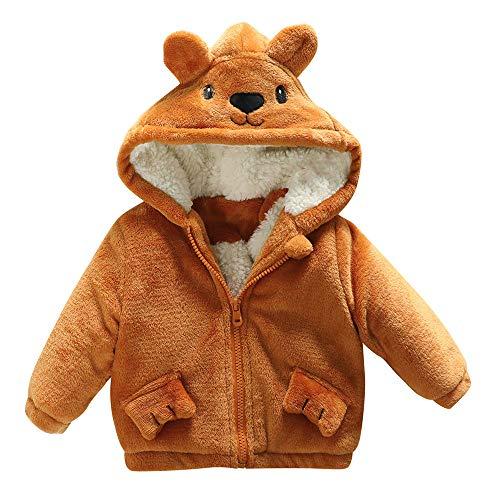 Ohren Cartoon Kapuzenmantel Baby-Säuglingsjunge Herbst Mantel Jacke Dickes warmes Tuch