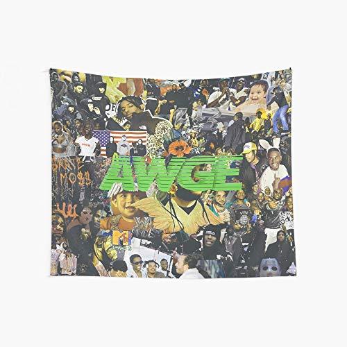 Noick AWGE 3D Boutique Wall Tapestry Pop Art Retro Micro Microfiber Peach Peach Home Decoration 59.1X51.2 in