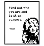 Dolly Parton Poster - 8x10 Inspirational Quote Wall Art Print, Room Decor, Home Decoration - Motivational Gift for Women, Country Music, Dollywood Fans - UNFRAMED