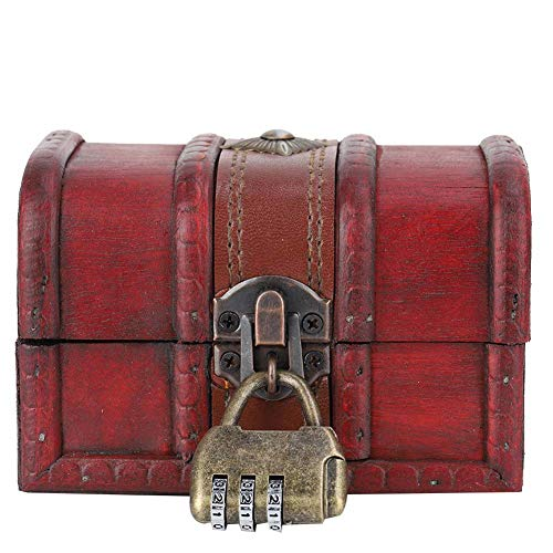 Alucy Caja de Madera, Caja de Almacenamiento de joyería de Madera Vintage,...