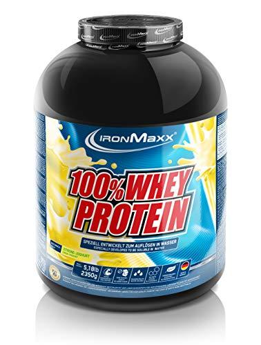 IronMaxx 100% Whey Protein | Post-workout shake | Tot 80% proteïnen per 100 gram | Oplosbaar in water | Inhoud: 2,35 kg