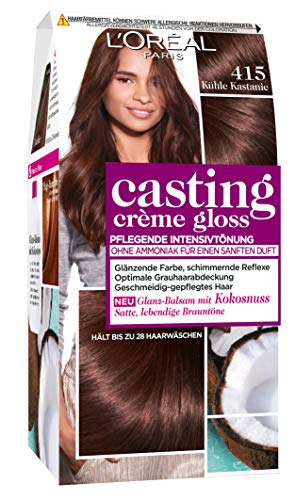 L'Oréal Paris Casting Crème Gloss Glanz-Reflex-Intensivtönung 415 in Kühle Kastanie
