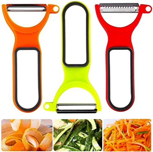 3PCS Peeler Slicers Shredders for Fruits and Vegetables with Spiralizer Julienne Cutter and product image