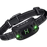 Gasky Bark Collar for Large Medium Dogs Rechargeable Anti Barking Collar Waterproof Upgraded Smart Detection Chip Humane Traning Collar with Beep Vibration and Shock