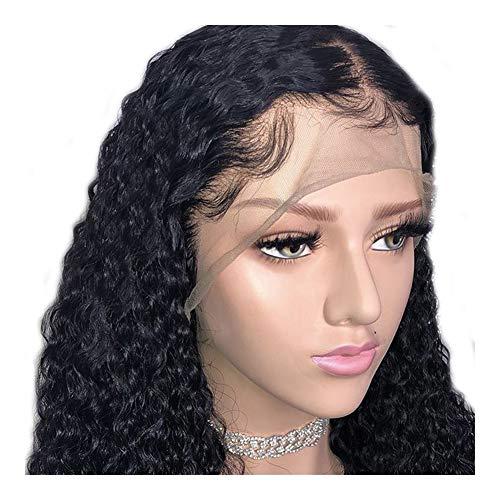 24 Inch Black Small Curly Lace Front Wigs lijmloze Lace Wig Synthetische Hittebestendige vezel haar pruik for vrouwen for Partij van het Kostuum Cosplay of Daily Dress