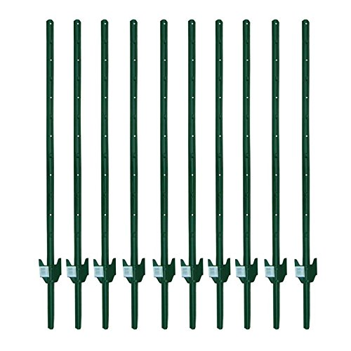 MTB Sturdy Duty Fence Post U Post 4 Feet, Pack of 10