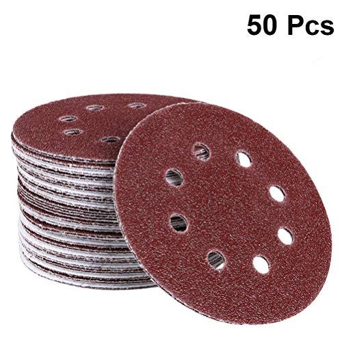 Balacoo Schuurschijven 5 Inch 8-Gaats Klitschuurpapier Korrel Voor Vlakschuurmachine Voor Het Polijsten en Afwerken Van Meubels Automotive Metaal