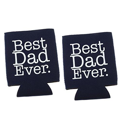 Blesiya Best DAD Ever Neopren Dosenkühler Flaschenkühler Kühler Getränkekühler Kühltasche