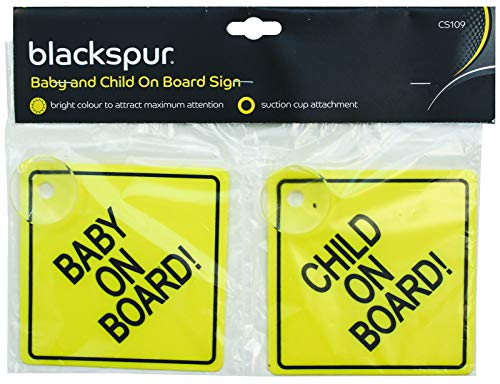 Blackspur BB-CS109Aufkleber, Baby on Board Schild, BB-CS109