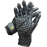 Grooming Gloves One Size Fit All Works For Dogs, Horses, Cats and Other Animals