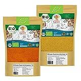 Hähnchengewürz Chicken Masala BIO + Garam Masala Gewürzmischungen BIO 150g | Geflügelgewürz BBQ-Rub Tikka Grillmarinade | Indische Gewürze Currygewürz 2er SET (2x 75g)