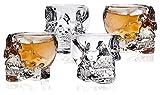 WHZG Bicchiere da teschio, Occhiali da vetri Old Motyed Coppa del cranio Cucina e sala da pranzo Intrattenere i bicchieri per vetri per servire Drink misto Scotch Whisky