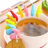 Miya® 6er Set süße Schnecke Form Teebeutel Halter, Tasse Glas Deko, hilft Tasse zu Unterscheiden, in ganz süß Bongbong Farbe - 4