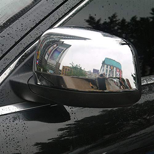 Cubierta de espejo de coche Puerta De La Cubierta Del Espejo 2pcs (derecha + Izquierda) Cubre El Espejo De Plata De Plástico ABS A Prueba De Agua Nunca Se Desvanece Fit For Jeep Grand Cherokee 2011-20