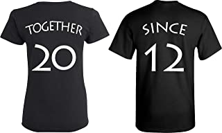 [Your Date - 2012 Else] - Together Since Matching Couple Anniversary Shirts - [Personalized]