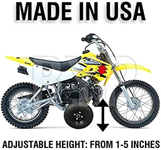 BYP_MFG_INC Adjustable Height Suzuki DRZ110 DRZ 110 Kids Youth Training Wheels ONLY